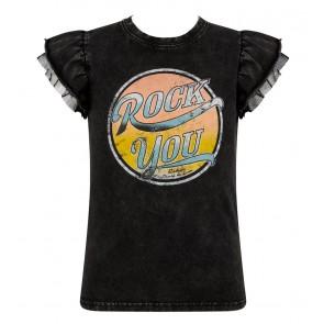 Retour jeans girls Kee t-shirt Rock You in de kleur antraciet grijs