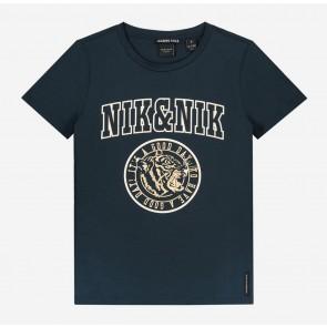 Nik en Nik girls poppy t-shirt in de kleur royal blue donkerblauw