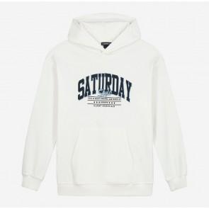 Nik en Nik kids saturday hoodie sweater trui in de kleur off white
