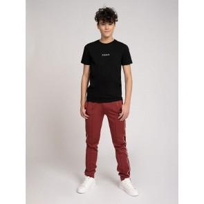 Nik en Nik kids boys subtle t-shirt met rug print in de kleur zwart