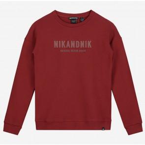 Nik en Nik kids boys Milo sweater trui in de kleur bordeaux rood