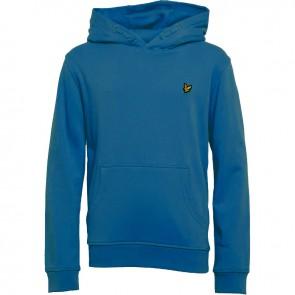 Lyle and scott junior hoodie sweater trui van katoen in de kleur blauw