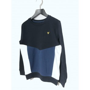 Lyle and scott junior boys sweater trui in de kleur donkerblauw