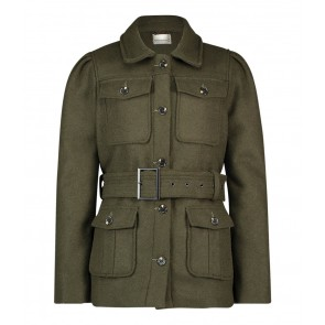 AI&KO Issy wool jacket winterjas in de kleur army green
