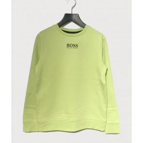 Hugo Boss kids sweater trui met mini logo in de kleur green lemon