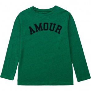 Zadig en Voltaire girls longsleeve shirt van katoen amour in de kleur groen
