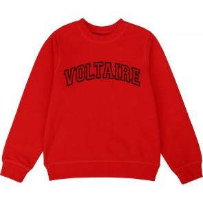 Zadig en Voltaire girls sweater trui voltaire in de kleur rood