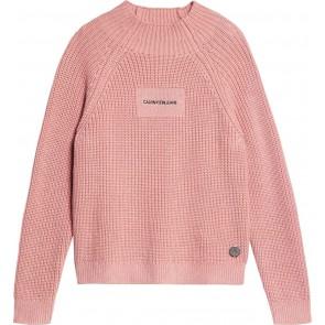 Calvin Klein kids girls gebreide col trui katoen in de kleur zachtroze