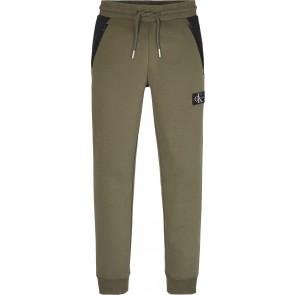 Calvin Klein kids boys colour block sweatpants broek in de kleur zwart/army green