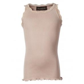 Rosemunde girls hemd top van zijde en katoen met kant rand in de kleur zachtroze