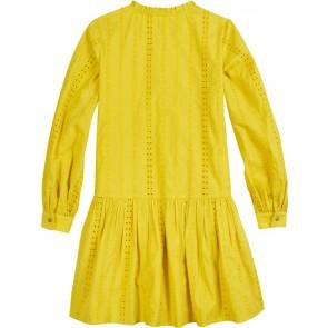 Tommy Hilfiger kids girls embroidery dress broderie jurk in de kleur geel