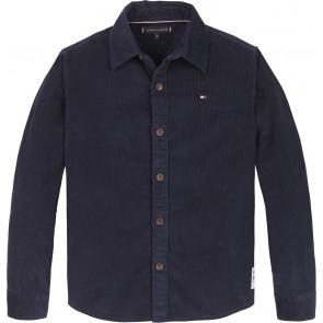 Tommy Hilfiger kids boys fijne rib cord blouse in de kleur donkerblauw