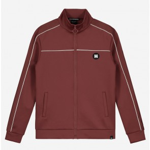 Nik en Nik boys track jacket Murry trackjacket in de kleur mid red bordeaux rood