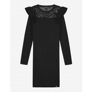 Nik en Nik kids girls jurk Albani jolie dress in de kleur black zwart