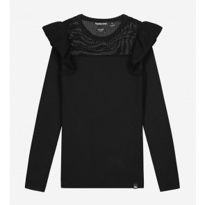 Nik en Nik kids girls Albani jolie top in de kleur black zwart