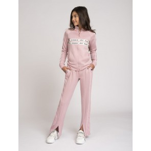 Nik en Nik kids girls broek paige track pants in de kleur dusty pink zachtroze