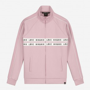 Nik en Nik kids girls vest paige track jacket in de kleur dusty pink zachtroze