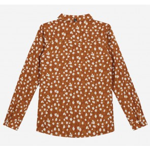 Nik en Nik kids girls blouse Odet deer blouse in de kleur brown