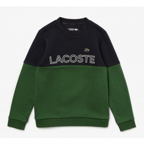 Lacoste kids boys colorblock sweater trui in de kleur groen/blauw
