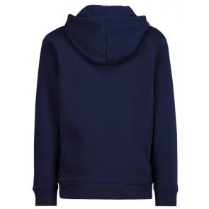 Lacoste kids boys hooded sweater trui met krokodil logo in de kleur donkerblauw