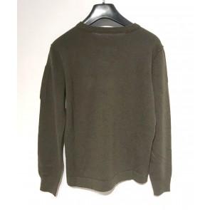 CP Company undersixteen knitwear crewneck extrafine merinowol in de kleur army green