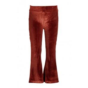Le Big girls rib fluweel flared broek met glitters in de kleur roestbruin
