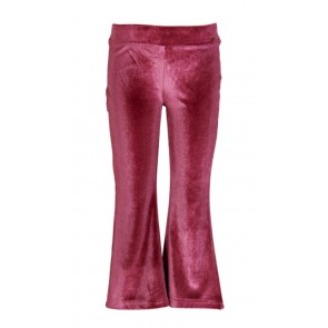 Le Big girls velours flared broek in de kleur oudroze