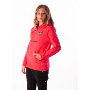 Black Bananas kids JR F.C hoody fleece sweater trui in de kleur neon pink