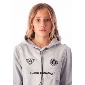 Black Bananas kids JR anorak kangeroo sweater trui in de kleur lichtblauw