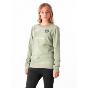Black Bananas kids JR F.C. crewneck sweater trui in de kleur lichtgroen