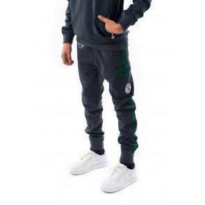 Black Bananas kids JR high collar tracksuit in de kleur grey grijs