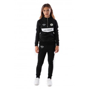Black Bananas kids JR high collar tracksuit in de kleur black zwart