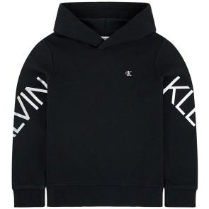 Calvin Klein kids girls sweater trui Hero logo hoodie in de kleur zwart