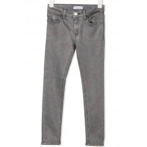 Calvin Klein kids girls mid rise skinny jeans broek met glitters in de kleur grijs