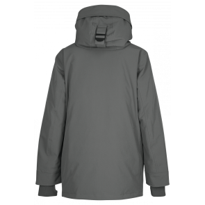 Airforce kids boys winterjas snow parka technical softshell in de kleur gun metal army green