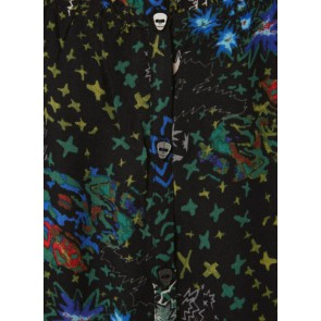 Zadig en Voltaire jurk Karo dress met all over print in de kleur zwart