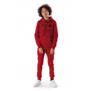 Black Bananas kids JR Fleece jogger sweatbroek in de kleur rood