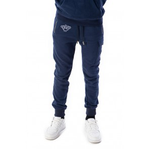 Black Bananas kids JR Fleece jogger sweatbroek in de kleur donkerblauw