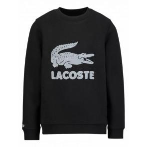 Lacoste boys sweater trui met krokodil in de kleur zwart