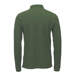 Lyle and scott junior longsleeve polo shirt in de kleur army green groen
