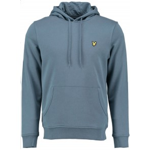 Lyle and scott junior hoody sweater in de kleur petrol blauw