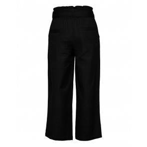 D-xel wijdvallend broekje Lissa pants met ceintuur in de kleur zwart