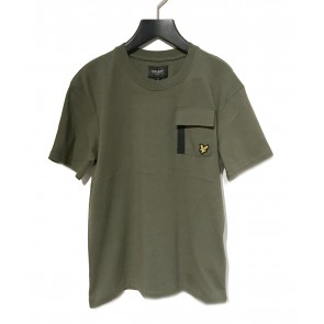 Lyle and Scott boys t-shirt met borstzakje in de kleur army green groen