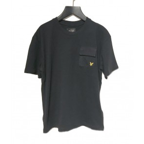 Lyle and Scott boys t-shirt met borstzakje in de kleur zwart