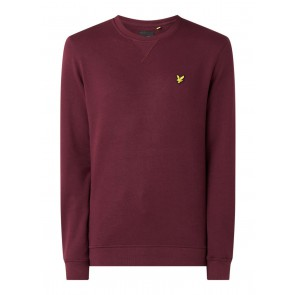 Lyle and Scott boys sweater trui met mini logo in de kleur bordeaux rood