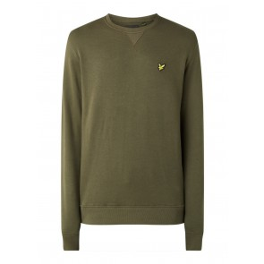 Lyle and Scott boys sweater trui met mini logo in de kleur army green groen