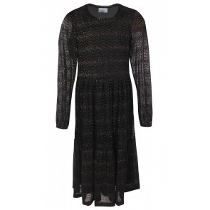 D-xel jurk Bolatta met glitter draad in de kleur zwart