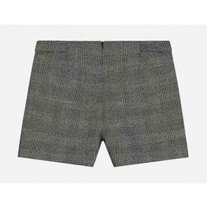Nik en Nik girls Elice shorts korte geruite broek in de kleur goud/beige