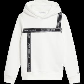 Calvin Klein kids girls logo hoodie sweater trui in de kleur wit