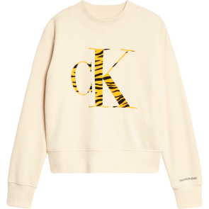 Calvin Klein kids girls urban animal flock sweater trui in de kleur creme